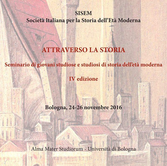 Attraverso la Storia: seminario di giovani storici di età moderna