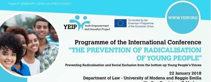 The prevention of radicalisation of young people: International Conference